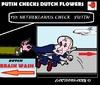 Cartoon: Brainwash Putin Now!! (small) by cartoonharry tagged holland,russia,flowers,checks,bacterium,stop,putin
