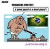Cartoon: Brasil (small) by cartoonharry tagged brasil,prisoners,guards,protest