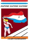 Cartoon: Daphne Scippers (small) by cartoonharry tagged athletics,daphneschippers,cartoonharry