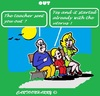 Cartoon: Excuse (small) by cartoonharry tagged park,bank,grandpa,grandchild,daughter,school,uterus,excuse,wiseguy