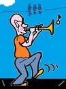 Cartoon: Expression (small) by cartoonharry tagged cartoonharry,trumpet,expression