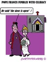 Cartoon: Fumbling Pope (small) by cartoonharry tagged marriage,priests,cardinals,popes,catholic,church,celibracy