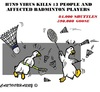 Cartoon: H7N9 (small) by cartoonharry tagged birdsflu,h7n9,china,badminton,goose,birds,shuttles,cartoons,cartoonists,cartoonharry,dutch,toonpool