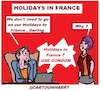 Cartoon: Holidays in France (small) by cartoonharry tagged cartoonharry
