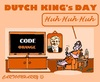 Cartoon: Holland and  Kings Day (small) by cartoonharry tagged holland,2015,kingsday,orange,willemalexander
