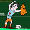 Cartoon: Klaas Jan Huntelaar (small) by cartoonharry tagged klaasjanhuntelaar,holland,ek,voetbal,cartoon,toon,dutch,cartoonist,cartoonharry,toonpool