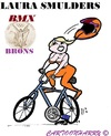 Cartoon: Laura Smulders (small) by cartoonharry tagged smulders,bmx,brons,cartoon,cartoonharry,dutch,toonpool