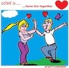 Cartoon: Love is ... (small) by cartoonharry tagged love,cartoonharry