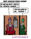 Cartoon: Obediency (small) by cartoonharry tagged england,anglican,church,bishop,female,confession