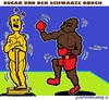 Cartoon: Oscar (small) by cartoonharry tagged usa,oscar,schmerzen