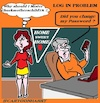 Cartoon: Password (small) by cartoonharry tagged internet,password,www,problem