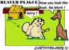 Cartoon: Sorry (small) by cartoonharry tagged damage,beaver,markrutte,badrhari,dog,cartoon,cartoonist,cartoonharry,dutch,toonpool