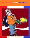 Cartoon: StartUp (small) by cartoonharry tagged holland,start,tulips,season