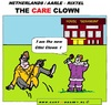 Cartoon: The Care Clown (small) by cartoonharry tagged cliniclown,careclown,holland,elder,amazing,frightened,cartoon,cartoonist,cartoonharry,dutch,toonpool