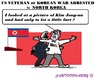 Cartoon: USA Veteran (small) by cartoonharry tagged usa,nkorea,veteran,arrest,85