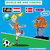 Cartoon: Wir kommen (small) by cartoonharry tagged uefa,women,fussball,football,champion,meisterinnen,cartoonharry