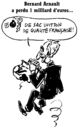 Cartoon: Bernard Arnault (small) by Zombi tagged bernard,arnault,lvmh,french,capitalist,tennis
