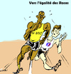 Cartoon: Racing (small) by Zombi tagged usain,bolt,christophe,lemaitre,200,competition,human,stupidity,evolution,darwin