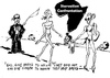 Cartoon: Starvation Confrontation (small) by Zombi tagged karl,lagerfeld,cartoon,starvation,model,africa,style