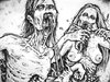 Cartoon: Zombie couple (small) by MrHorror tagged zombie,couple,two,undead
