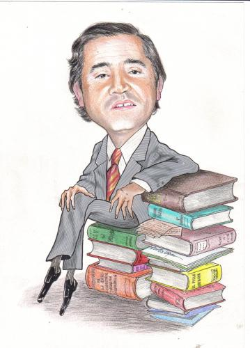 Cartoon: Abogado (medium) by hualpen tagged libros