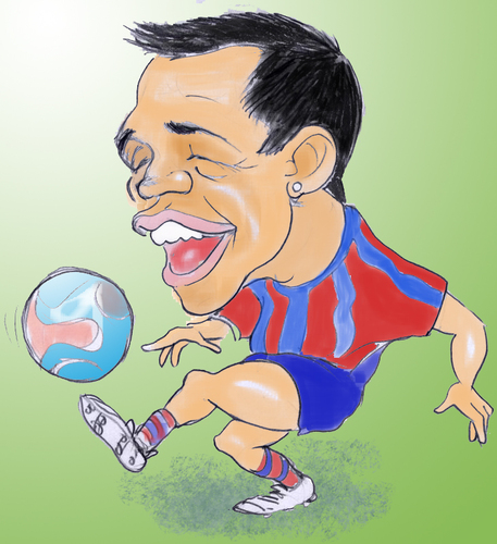 Cartoon: alexis sanchez (medium) by hualpen tagged sanchez,alexis,caricatura