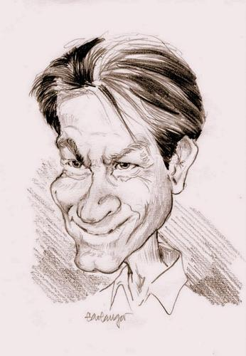 Cartoon: Charlie Sheen (medium) by hualpen tagged charlie,sheen