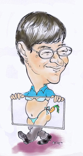 Cartoon: Jaime Bayly (medium) by hualpen tagged bayly