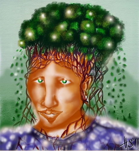 Cartoon: THINK GREEN (medium) by joschoo tagged green,bio,conservation,diversity,think,brain,earth,enviroment,ecology