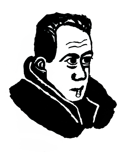 Cartoon: Albert Camus (medium) by Pascal Kirchmair tagged literature,literatur,nobelpreis,nobel,prix,pest,die,writer,camus,albert