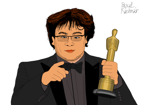 Cartoon: Bong Joon-ho (medium) by Pascal Kirchmair tagged academy,awards,oscar,oscars,bong,joon,ho,author,autor,autore,auteur,filmmaker,artist,art,hollywood,parasite,screenwriter,illustration,drawing,zeichnung,pascal,kirchmair,cartoon,caricature,karikatur,ilustracion,dibujo,desenho,ink,disegno,ilustracao,illustrazione,illustratie,dessin,de,presse,du,jour,of,the,day,tekening,teckning,cartum,vineta,comica,vignetta,caricatura,portrait,porträt,portret,retrato,ritratto,academy,awards,oscar,oscars,bong,joon,ho,author,autor,autore,auteur,filmmaker,artist,art,hollywood,parasite,screenwriter,illustration,drawing,zeichnung,pascal,kirchmair,cartoon,caricature,karikatur,ilustracion,dibujo,desenho,ink,disegno,ilustracao,illustrazione,illustratie,dessin,de,presse,du,jour,of,the,day,tekening,teckning,cartum,vineta,comica,vignetta,caricatura,portrait,porträt,portret,retrato,ritratto