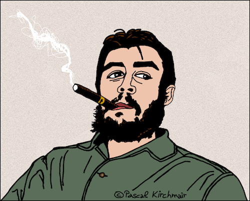 Cartoon: Che Guevara (medium) by Pascal Kirchmair tagged che,guevara,vignetta,vineta,comica,portrait,retrato,ritratto,cartoon,caricature,karikatur,illustration,dibujo,desenho,drawing,dessin,pascal,kirchmair,porträt,zeichnung,cuba,libre,kuba,havanna,cohiba,havana,habana,la,havane,avana,che,guevara,vignetta,vineta,comica,portrait,retrato,ritratto,cartoon,caricature,karikatur,illustration,dibujo,desenho,drawing,dessin,pascal,kirchmair,porträt,zeichnung,cuba,libre,kuba,havanna,cohiba,havana,habana,la,havane,avana