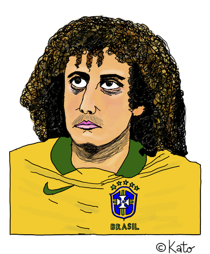 Cartoon: David Luiz (medium) by Pascal Kirchmair tagged zeichnung,david,luiz,karikatur,caricature,cartoon,vignetta,portrait,fußball,brasilien,sao,paulo,dessin,zeichnung,david,luiz,karikatur,caricature,cartoon,vignetta,portrait,fußball,brasilien,sao,paulo,dessin