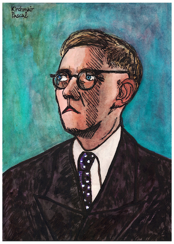 Cartoon: Dmitri Dmitriyevich Shostakovich (medium) by Pascal Kirchmair tagged dmitri,schostakowitsch,shostakovich,caricature,disegno,portrait,retrato,ritratto,drawing,dibujo,desenho,cartoon,karikatur,pascal,kirchmair,dessin,composer,komponist,moscow,sankt,petersburg,zeichnung,tekening,cartum,portret,teckning,ritning,music,moderne,russie,russia,rusia,russland,moskau,dmitri,schostakowitsch,shostakovich,caricature,disegno,portrait,retrato,ritratto,drawing,dibujo,desenho,cartoon,karikatur,pascal,kirchmair,dessin,composer,komponist,moscow,sankt,petersburg,zeichnung,tekening,cartum,portret,teckning,ritning,music,moderne,russie,russia,rusia,russland,moskau