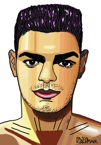 Cartoon: Hatem Ben Arfa (medium) by Pascal Kirchmair tagged hatem,ben,arfa,caricature,portrait,karikatur,cartoon,dessin,fußball,foot,football,soccer,player,france,hatem,ben,arfa,caricature,portrait,karikatur,cartoon,dessin,fußball,foot,football,soccer,player,france
