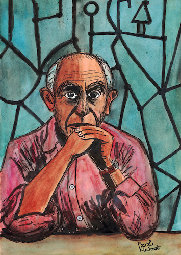 Cartoon: Pablo Picasso (medium) by Pascal Kirchmair tagged pablo,picasso,caricature,illustration,ilustracion,pascal,kirchmair,portrait,retrato,ritratto,drawing,dibujo,desenho,disegno,ilustracao,illustrazione,illustratie,zeichnung,dessin,du,jour,art,of,the,day,tekening,teckning,cartum,cartoon,vineta,comica,vignetta,caricatura,karikatur,aquarell,watercolour,watercolor,artist,artista,artiste,painter,peintre,pintor,pittore,mougins,malaga,france,espana,spain,espagne,abstract,antibes,pablo,picasso,caricature,illustration,ilustracion,pascal,kirchmair,portrait,retrato,ritratto,drawing,dibujo,desenho,disegno,ilustracao,illustrazione,illustratie,zeichnung,dessin,du,jour,art,of,the,day,tekening,teckning,cartum,cartoon,vineta,comica,vignetta,caricatura,karikatur,aquarell,watercolour,watercolor,artist,artista,artiste,painter,peintre,pintor,pittore,mougins,malaga,france,espana,spain,espagne,abstract,antibes