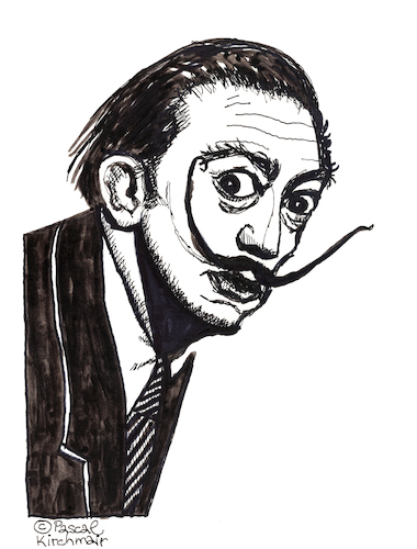 Cartoon: Salvador Dali (medium) by Pascal Kirchmair tagged salvador,dali,retrato,cartum,portrait,surrealisme,surrealismo,surrealismus,porträt,ritratto,portret,dibujo,dessin,drawing,zeichnung,caricature,karikatur,cartoon,desenho,disegno,ink,tusche,salvador,dali,retrato,cartum,portrait,surrealisme,surrealismo,surrealismus,porträt,ritratto,portret,dibujo,dessin,drawing,zeichnung,caricature,karikatur,cartoon,desenho,disegno,ink,tusche