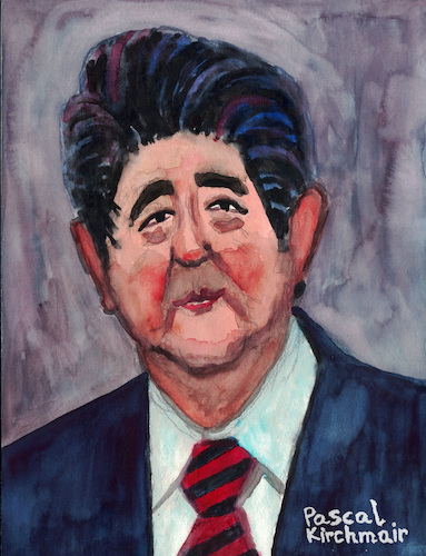 Cartoon: Shinzo Abe (medium) by Pascal Kirchmair tagged shinzo,abe,karikatur,prime,minister,japan,japon,japao,cartoon,portrait,drawing,retrato,illustration,ilustracion,caricature,pascal,kirchmair,zeichnung,dibujo,desenho,dessin,ilustracao,ritratto,shinzo,abe,karikatur,prime,minister,japan,japon,japao,cartoon,portrait,drawing,retrato,illustration,ilustracion,caricature,pascal,kirchmair,zeichnung,dibujo,desenho,dessin,ilustracao,ritratto