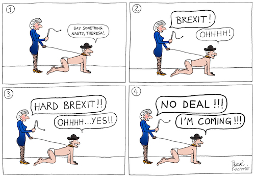 Cartoon: The Brexiteer (medium) by Pascal Kirchmair tagged hard,brexit,brexiteer,cartoon,caricature,theresa,may,karikatur,brexiteers,pascal,kirchmair,no,deal,illustration,drawing,zeichnung,political,politische,ilustracion,dibujo,desenho,ink,disegno,ilustracao,illustrazione,illustratie,dessin,de,presse,du,jour,art,of,the,day,tekening,teckning,cartum,vineta,comica,vignetta,caricatura,great,britain,großbritannien,england,angleterre,inghilterra,inglaterra,united,kingdom,royaume,uni,regno,unito,reino,unido,politik,politics,politicians,politique,hard,brexit,brexiteer,cartoon,caricature,theresa,may,karikatur,brexiteers,pascal,kirchmair,no,deal,illustration,drawing,zeichnung,political,politische,ilustracion,dibujo,desenho,ink,disegno,ilustracao,illustrazione,illustratie,dessin,de,presse,du,jour,art,of,the,day,tekening,teckning,cartum,vineta,comica,vignetta,caricatura,great,britain,großbritannien,england,angleterre,inghilterra,inglaterra,united,kingdom,royaume,uni,regno,unito,reino,unido,politik,politics,politicians,politique