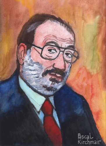 Cartoon: Umberto Eco (medium) by Pascal Kirchmair tagged umberto,eco,portrait,karikatur,caricature,disegno,aquarell,italia,schriftsteller,scrittore,ecrivain,italien,mailand,milano,umberto,eco,portrait,karikatur,caricature,disegno,aquarell,italia,schriftsteller,scrittore,ecrivain,italien,mailand,milano