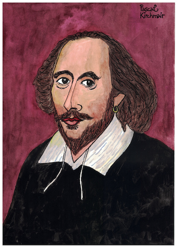 Cartoon: William Shakespeare (medium) by Pascal Kirchmair tagged william,shakespeare,karikatur,caricature,dessin,illustration,dibujo,portrait,retrato,pascal,kirchmair,drawing,desenho,ilustracion,ilustracao,illustrazione,zeichnung,tekening,portret,cartum,cartoon,caricatura,theater,theatre,william,shakespeare,karikatur,caricature,dessin,illustration,dibujo,portrait,retrato,pascal,kirchmair,drawing,desenho,ilustracion,ilustracao,illustrazione,zeichnung,tekening,portret,cartum,cartoon,caricatura,theater,theatre