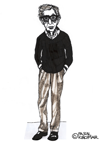 Cartoon: Woody Allen (medium) by Pascal Kirchmair tagged comedian,komiker,portrait,cartoon,caricature,karikatur,allen,woody,actor,regisseur,film,director,producer,usa,new,york,manhattan,woody,allen,karikatur,caricature,cartoon,portrait,komiker,comedian,actor,regisseur,film,director,producer,usa,new,york,manhattan