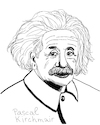 Cartoon: Albert Einstein (small) by Pascal Kirchmair tagged albert,einstein,portrait,zeichnung,drawing,dibujo,desenho,retrato,disegno,dessin,cartoon,karikatur,caricature,porträt,cartum,portret,ritratto