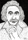 Cartoon: Albert Einstein (small) by Pascal Kirchmair tagged albert,einstein,theory,of,relativity,illustration,drawing,zeichnung,pascal,kirchmair,cartoon,caricature,karikatur,ilustracion,dibujo,desenho,ink,disegno,ilustracao,illustrazione,illustratie,dessin,de,presse,du,jour,art,the,day,tekening,teckning,cartum,vineta,comica,vignetta,caricatura,portrait,retrato,ritratto,portret,princeton,ulm,gravitation,relativitätstheorie,genius,genie,mastermind,wiz,whizz,whiz,genio