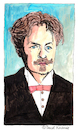 Cartoon: August Strindberg (small) by Pascal Kirchmair tagged johan,august,strindberg,portrait,retrato,drawing,zeichnung,tekening,illustration,pascal,kirchmair,portret,caricature,karikatur,ritratto,cartum,cartoon,ilustracion,ilustracao