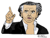 Cartoon: Bernard-Henri Levy (small) by Pascal Kirchmair tagged karikatur,cartoon,france,frankreich,bernard,henri,levy,bhl,caricature,dessin,philosophe