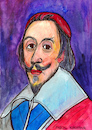 Cartoon: Cardinal Richelieu (small) by Pascal Kirchmair tagged cardinal,duc,de,richelieu,cartoon,portrait,retrato,drawing,dessin,zeichnung,illustration,caricature,karikatur,france,frankreich,portret,porträt,dibujo,desenho,disegno,ritratto,pascal,kirchmair