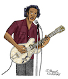 Cartoon: Chuck Berry (small) by Pascal Kirchmair tagged chuck,berry,cartoon,dibujo,desenho,disegno,caricature,karikatur,drawing,dessin,rock,and,roll,johnny,goode,cartum,blues,hall,of,fame,usa,zeichnung,vineta,comica,vignetta,saint,louis,missouri,wentzville,duckwalk,beat,music,musik