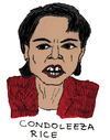Cartoon: Condoleezza Rice (small) by Pascal Kirchmair tagged republikanische partei condoleezza rice falken außenministerin usa republikaner george walker bush secretary of state national security advisor nationale sicherheitsberaterin