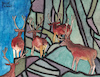 Cartoon: Deer in the mountains (small) by Pascal Kirchmair tagged hirsche,rotwild,cervo,cervi,ciervos,cervos,ciervo,cerf,cerfs,deer,mountain,mountains,gebirge,berge,gemälde,painting,peinture,pittura,pintura,dipinto,alpine,alpen,dibuix,illustration,drawing,zeichnung,pascal,kirchmair,ilustracion,dibujo,desenho,disegno,ilustracao,illustrazione,illustratie,dessin,du,jour,art,of,the,day,tekening,teckning,watercolor,watercolour,aquarell,aquarelle,acquerello,acquarella,acuarela,aguarela,aquarela,alps,alpes,alpi